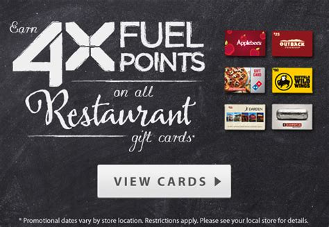 Disney World Gift Cards At Kroger - kroger 4x fuel points on restaurant gift cards