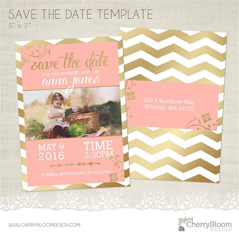 Save The Date Birthday Templates birthday save the date card template for photographers bd02