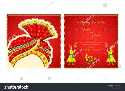 Indian Wedding Card Templates Vector by Vector Illustration Indian Wedding Invitation Card Stock