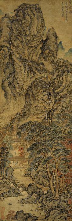 Tang Dynasty No 4 Drawing By Tony Wong 明 唐寅 东篱赏菊图 上海博物馆 by china museum