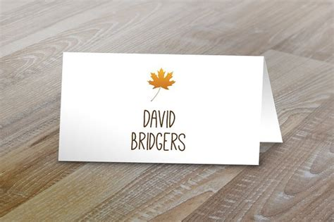 Fall Table Tent Name Cards Card Templates On Creative Market Name Table Tent Template