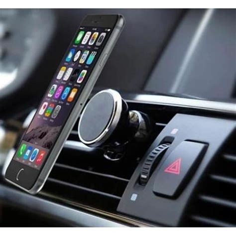 Porte Iphone 5 Voiture by Support Voiture Magn 233 Tique Pour Iphone 7 Plus Aimant Noir