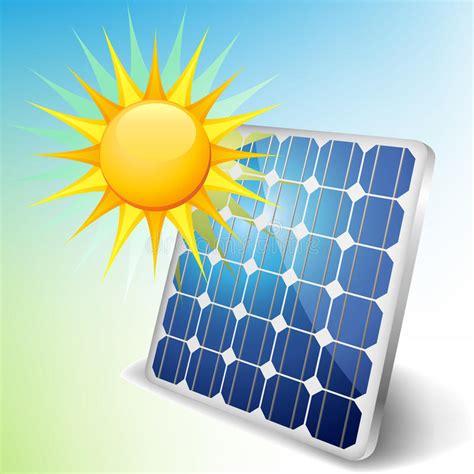 solar panel with sun stock photo image 36088580