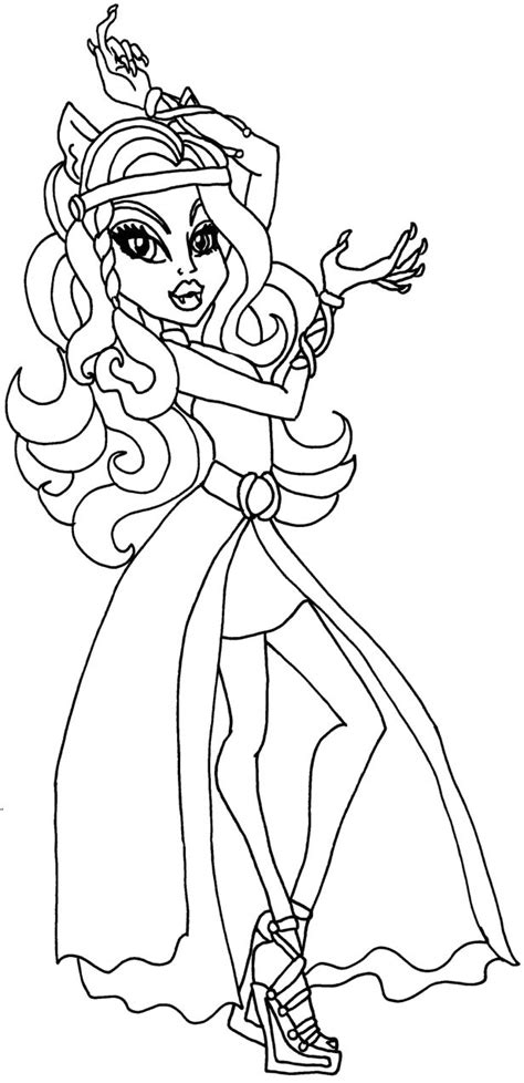 monster high coloring pages clawdeen wolf az coloring pages