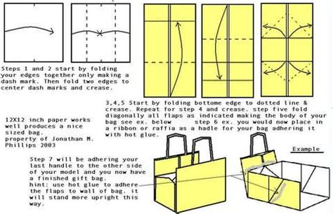 origami paper bag pattern make your own gift bag origami bag creative diy