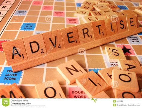 el scrabble word business concept advertise scrabble word stock images