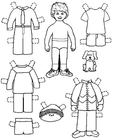 printable paper doll faces 7 best images about boys clothes on pinterest coloring