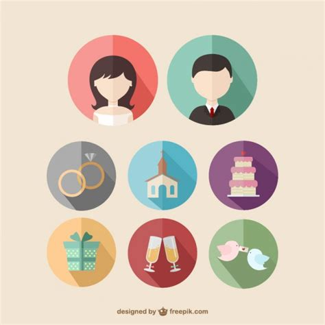 Wedding Icons by Wedding Icons Vector Free