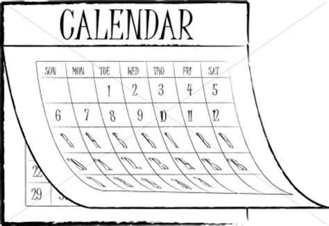 Black And White Calendar Calendar Clip Black And White Calendar