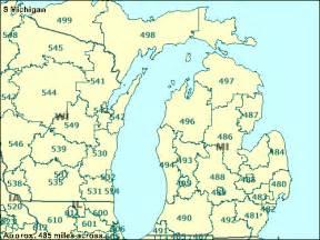 Michigan Zip Codes Map by Trucksess Com Zcta Maps 400 499