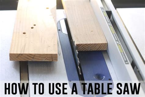 can you use a table saw as a jointer how to use a table saw tips