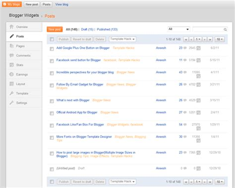 blogger dashboard awesome blogger dashboard blogger widgets