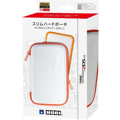 New 2ds Xl Hori Slim Pouch hori slim pouch for new 2ds ll white x orange play inc