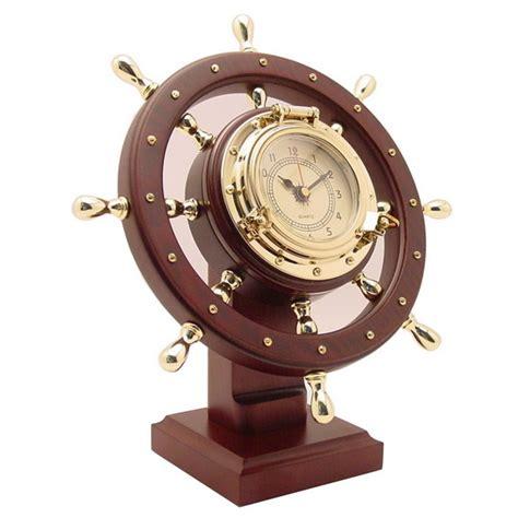 Nautical Desk Clocks by Nautical Ship Wheel Desk Clock Buy Ship Wheel Nautical