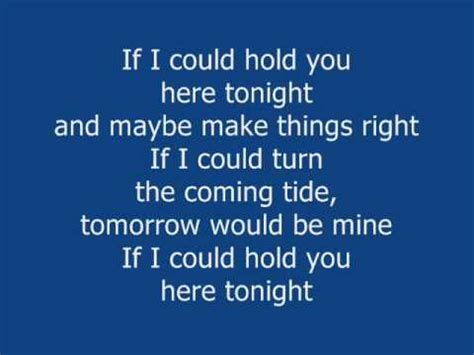 Could You In Here by If I Could Hold You Here Tonight Minus One