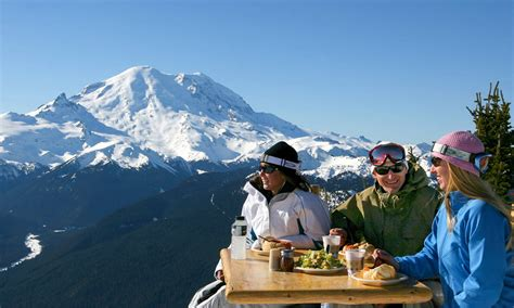 dining   view  crystal mountain visit rainier