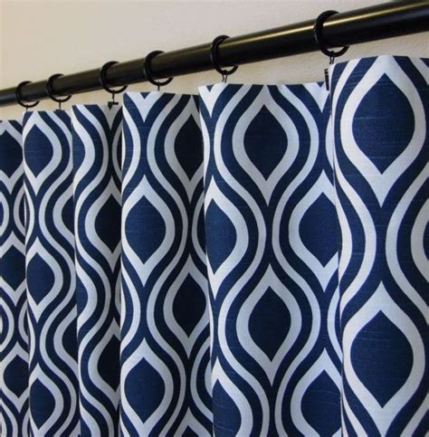 navy blue patterned curtains uk nicole slub premier navy and white curtains 50 quot x 63 72