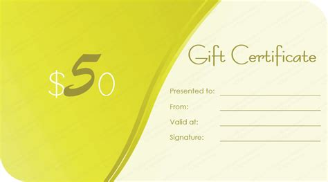in blue gift certificate template