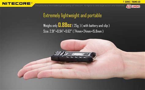 Nitecore Thumb Leo Senter Led Usb Rechargeable 45 Lumens Uv Light 1 nitecore thumb leo senter led usb rechargeable 45 lumens