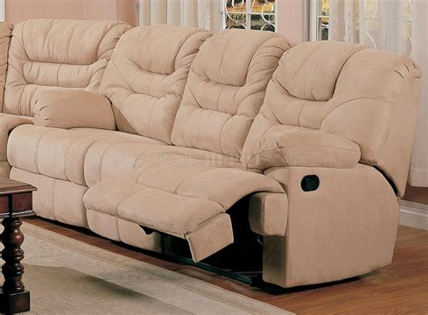 Stylish Reclining Sofa Beige Saddle Fabric Stylish Modern Reclining Sectional Sofa
