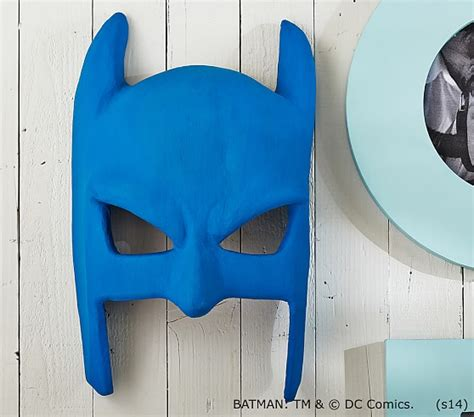 How To Make Paper Batman Mask - batman vintage paper mache mask pottery barn mcj