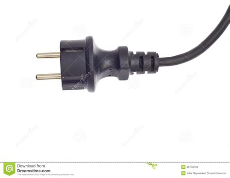 black electric cable isolated royalty free stock photo