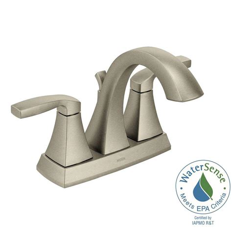 moen brushed nickel kitchen faucet moen voss 4 in centerset 2 handle bathroom faucet in