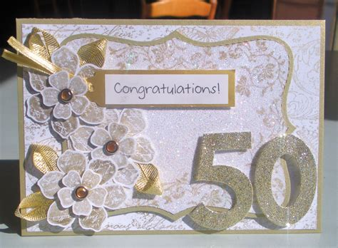 Handmade 50th Anniversary Cards - dad s 50th anniversary card enchantink