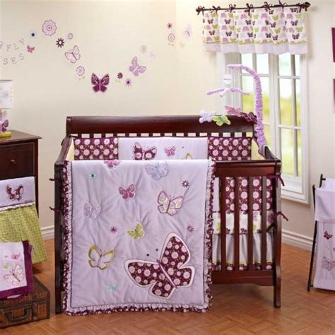 Butterfly Nursery Bedding Set Purple Baby Bedding Tktb