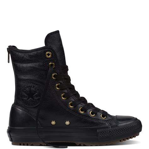 converse boot chuck all hi rise boot leather fur