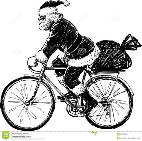 imagenes de santa claus en bicicleta santa claus que monta una bicicleta fotos de archivo
