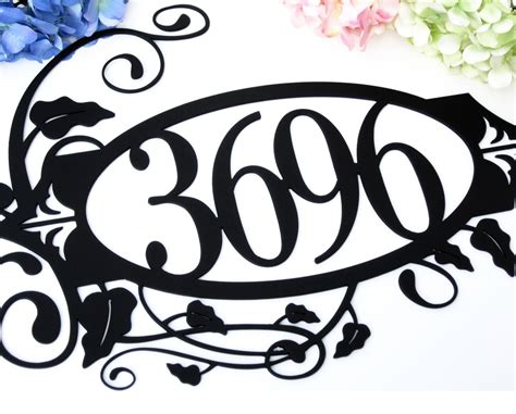 Steam Punk Home Decor Buy A Hand Crafted House Number Metal Sign Vines 4