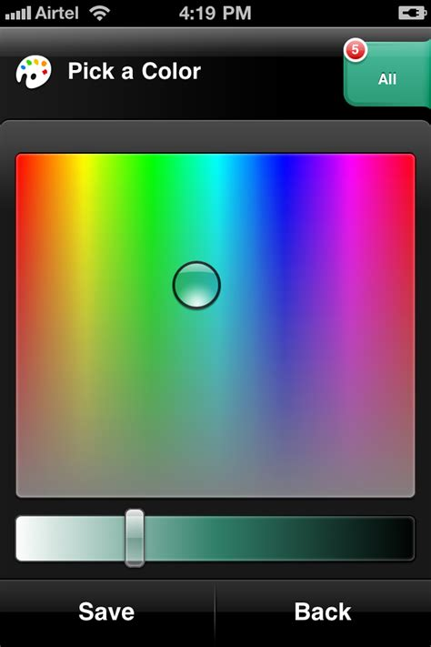 related to colors in iphone