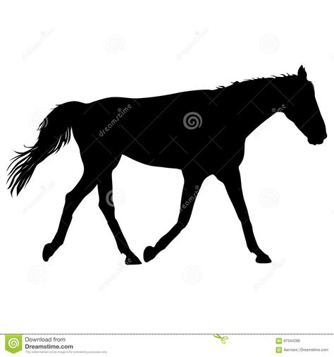 mustang silhouette silhouette of black mustang vector illustration