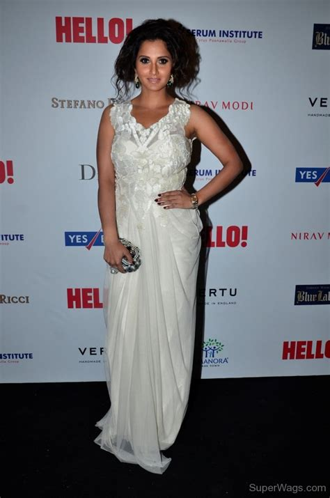 Mirza Dress by Sania Mirza Wearing White Dress Wags