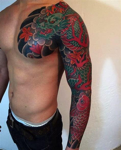 dragon sleeve tattoos tattoos the world s best designs