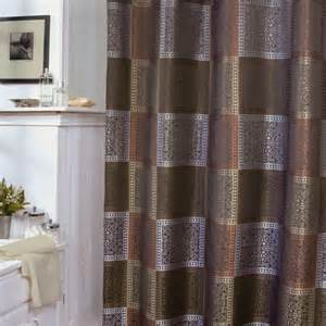 shower curtains green and brown interior decorating