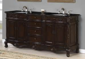 chic brown glaze wooden 90 inch bath vanity cabinet with drawers and storage also cream marble