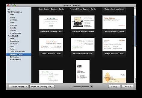 business card template pages mac how to make business cards with apple pages 09 it still