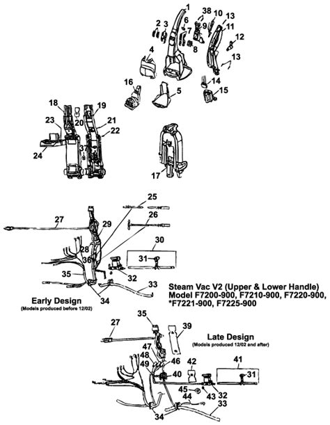 hoover steamvac parts diagram hoover f7210 900 steam vac vacuum cleaner parts