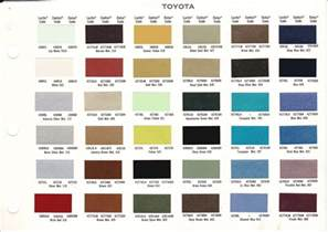 toyota color chart 2016 2016 car release date