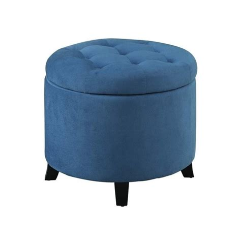 convenience concepts ottoman 163060fbe convenience concepts designs4comfort round