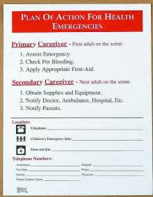 plan of action for action for medical emergencies english