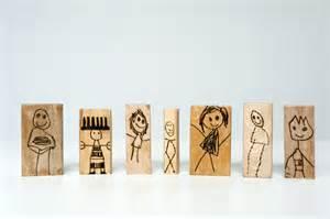 made by joel 187 wood burned doll blocks