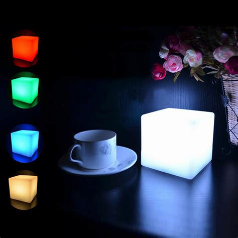 led 7 color changing mood cubes glow l light