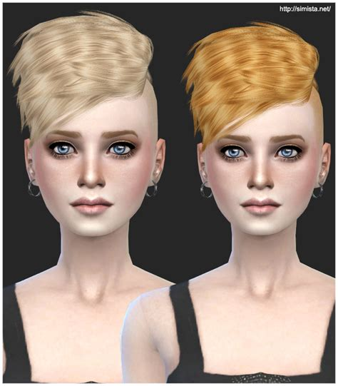 sims 4 half have hair half hawk female retexture simista a little sims 4 site