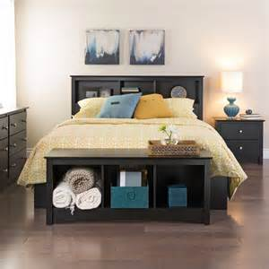 Platform Bed With Bookshelves Prepac Manhattan Bookcase Storage Platform Bed Beds At Hayneedle