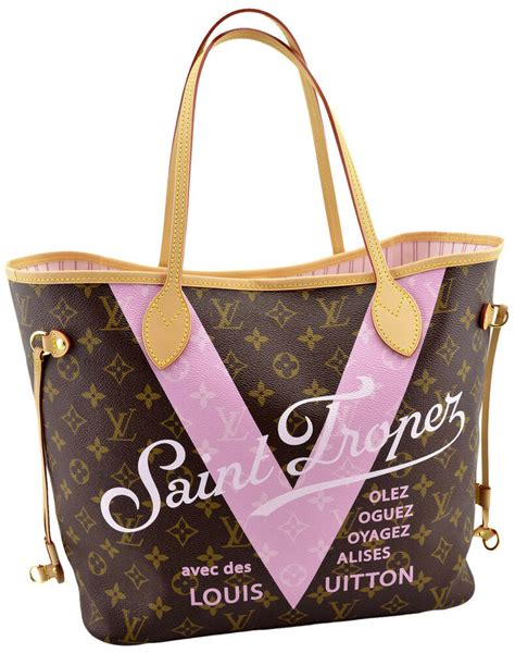 louis vuitton pink monogram  saint tropez shopper tote