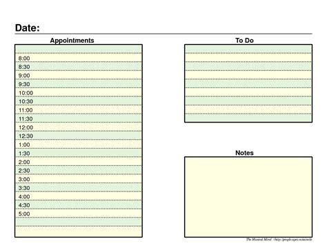 printable planner template 6 best images of daily agenda printable pdf daily agenda