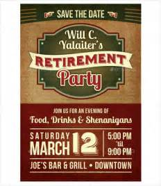 flyer announcement template retirement flyer templates 9 free psd vector ai eps